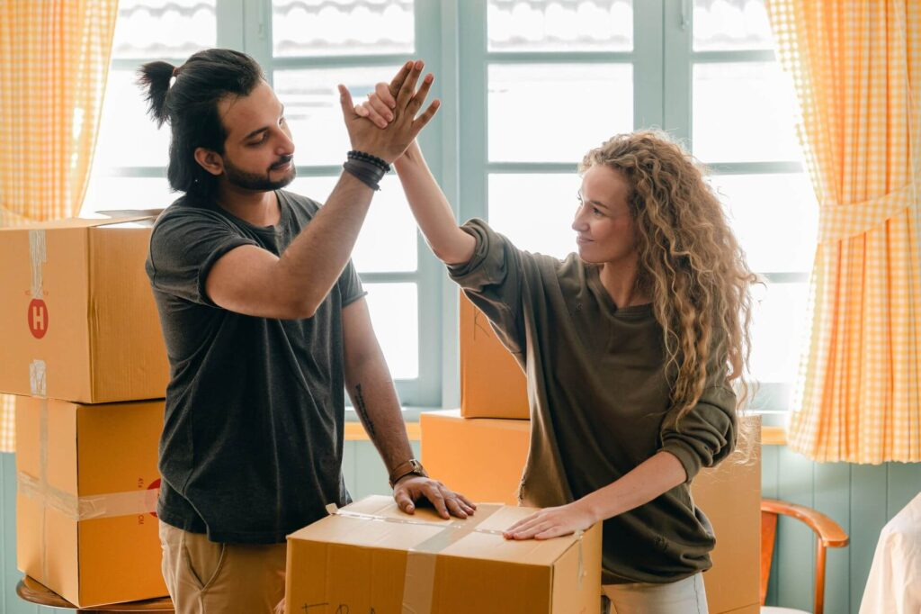 A couple agrees to hire one of the moving companies in Philadelphia