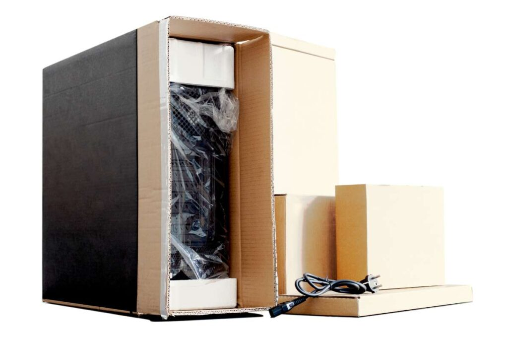 A computer ready to be moved by movers in Philadelphia, PA